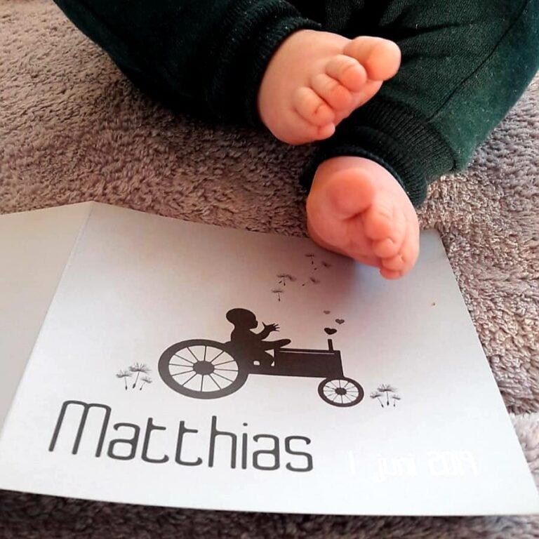 Geboortekaartje matthias - MERQ
