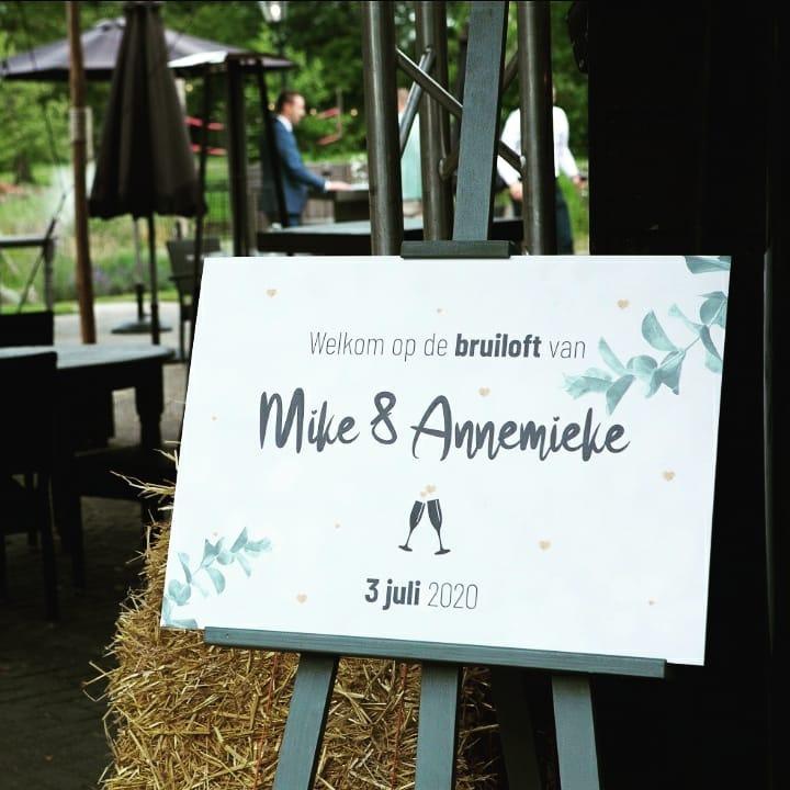 Trouwkaart Annemieke en Mike - Welkomstbord - MERQ